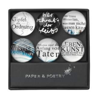 "Paper & Poetry. Magnete Set ""Sprüche Thema 1"""