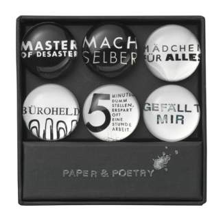 "Paper & Poetry. Magnete Set ""Sprüche Thema 2"""