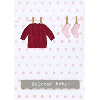 "Babykarte rosa ""Welcome Baby"""