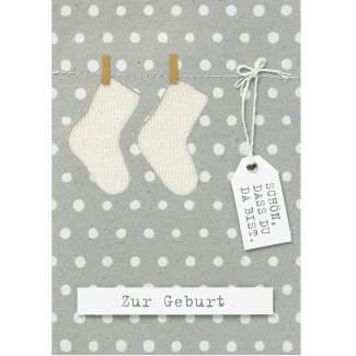 """Babykarte neutral """"Zur Geburt"""""""