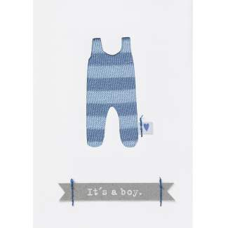 "Babykarte blau ""It's a boy"""