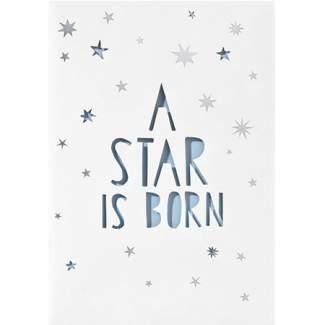 """Baby Lichttüten Karte """"A star is born"""""""