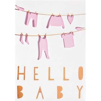 """Baby Lichttüten Karte """"Hello Baby"""""""
