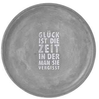 """Beton Schale """"Gl�ck ist die Zeit..."""""""
