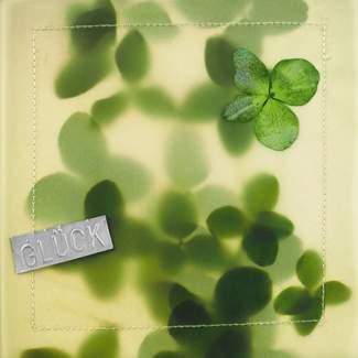 "Blumentransparent Karte ""Glück"""