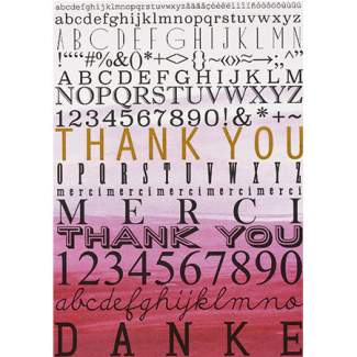 "Buchstaben Postkarte ""Danke"""