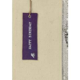 """Canvas Karte """"violettes Rechteck"""""""