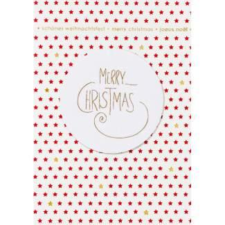 """Weihnachtscanvas Karte """"Merry Christmas"""""""
