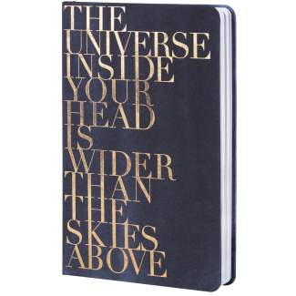 "Tintenblau. Notizbuch ""The universe..."""