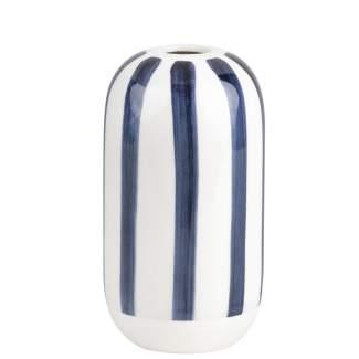 """Tintenblau. Vase """"Streifen"""""""