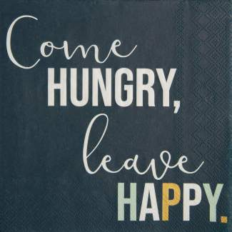 """Servietten """"Come hungry"""""""