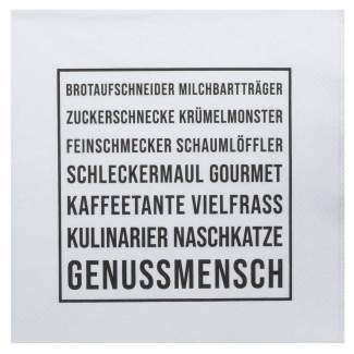 "Servietten ""Genussmensch"""