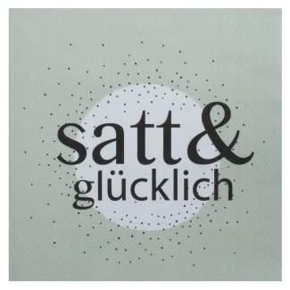 """Servietten """"satt & glücklich"""""""