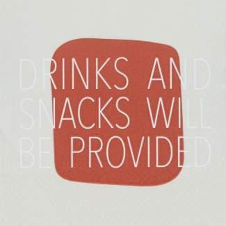 "Serviette ""Drinks and Snacks"""