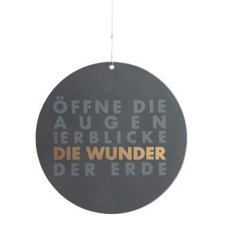 """Raum und Zeit. Poesiefensterbild """"Öffne die Augen..."""""""
