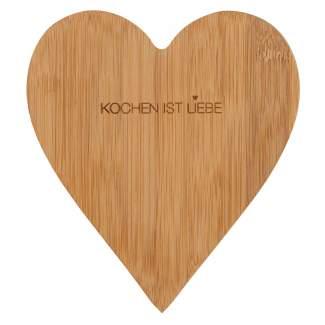 "Bambusherz ""Kochen ist Liebe"""