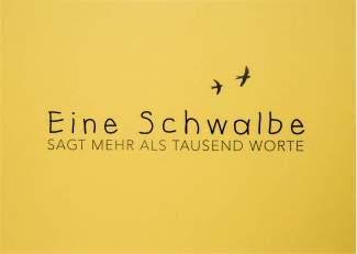 """Wortwitzkarte """"Eine Schwalbe..."""""""