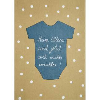 "Baby Postkarte ""Strampler"""