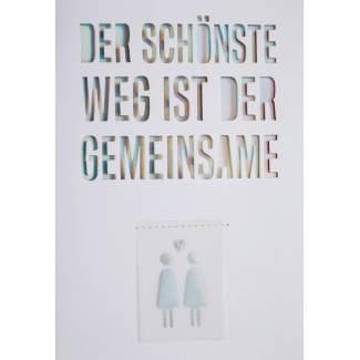 """Regenbogen Hochzeitskarte """"Der schönste Weg"""""""