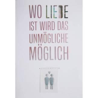 """Regenbogen Hochzeitskarte """"Wo Liebe ist..."""""""
