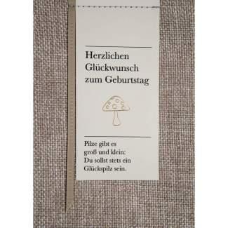 """Poesiealbumkarte """"Herzlichen Glückwunsch"""""""