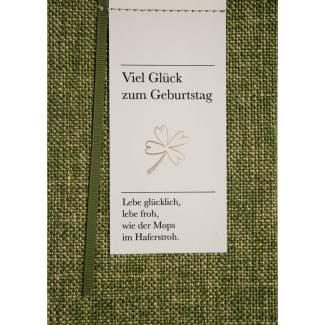 """Poesiealbumkarte """"Viel Glück zum Geburtstag"""""""