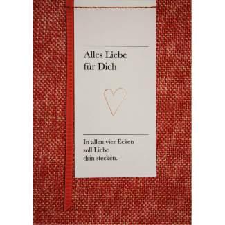 """Poesiealbumkarte """"Alles Liebe für dich"""""""