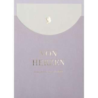 """Schuberkarte """"von Herzen"""""""
