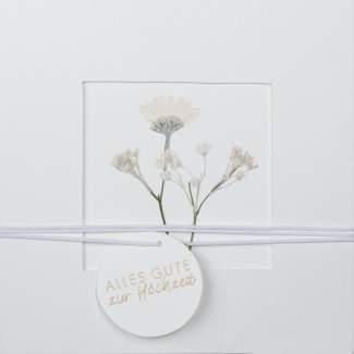 """Blumenpassepartout Karte """"Alles Gute zur Hochzeit"""""""