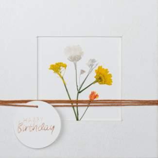 """Blumenpassepartout Karte """"Happy Birthday"""""""