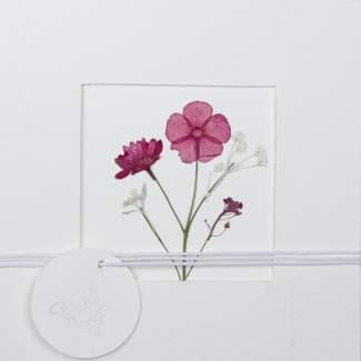 """Blumenpassepartout Karte """"Für Dich"""""""