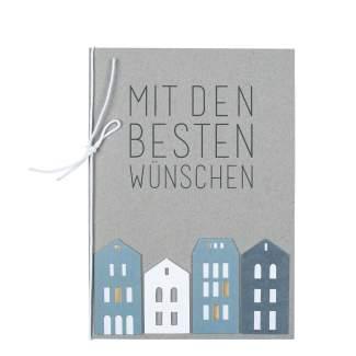 """Häuschenkarte """"Mit den besten Wünschen"""""""