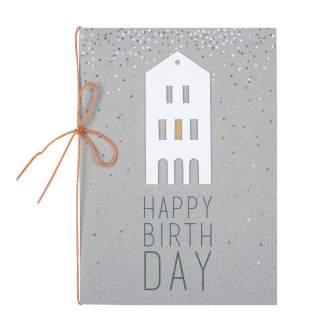 """Häuschenkarte """"Happy Birthday"""""""