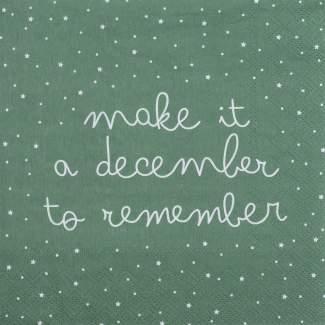 """Weihnachtsservietten """"Make it a december..."""""""