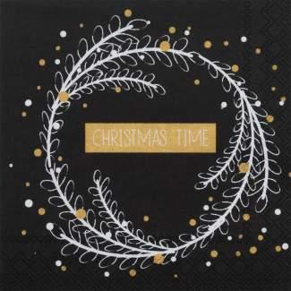 """Weihnachtsservietten klein """"Christmas time"""""""