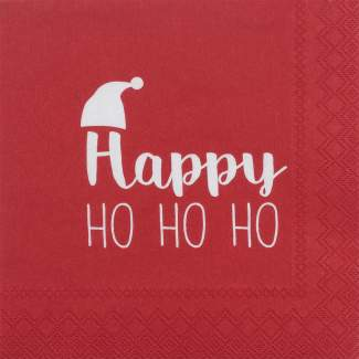 "Weihnachtsservietten klein ""Happy HO HO HO"""