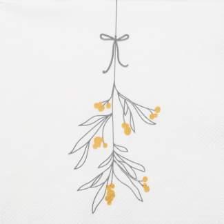 """Weihnachtsservietten klein """"Mistletoe"""""""