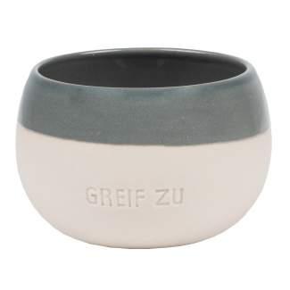 """Steinzeug. Schale """"Greif zu"""""""