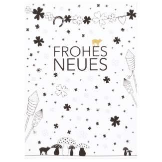 """Süße Weihnachtspostkarte """"Frohes Neues"""""""