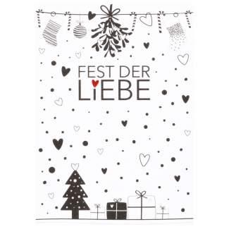 """Süße Weihnachtspostkarte """"Fest der Liebe"""""""
