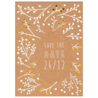 "Sprechblasenpostkarte ""Save th date 24/12"""