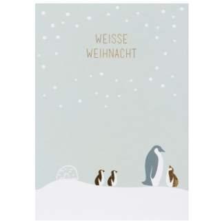 """Weihnachts Tierpostkarte """"Weiße Weihnacht"""""""