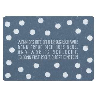 """Güte Wünsche Postkarte """"Wenn das alte Jahr..."""""""