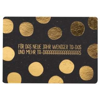 """Gute Wünsche Postkarte """"Für das neue Jahr..."""""""