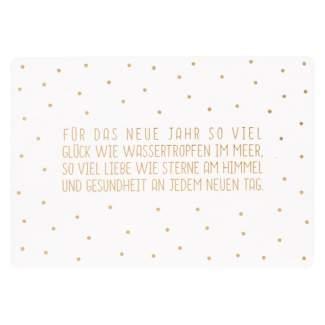 """Gute Wünsche Postkarte """"Glück wie Wassertropfen..."""""""