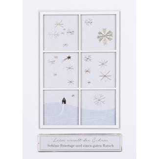 """Winterfensterkarte """"Schöne Feiertage"""""""