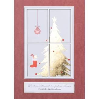 """Winterfensterkarte """"Fröhliche Weihnachten"""""""