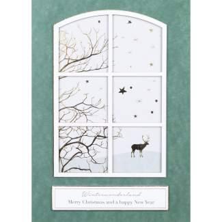 """Winterfensterkarte """"Merry Christmas"""""""