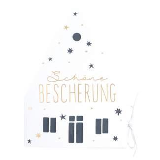 """Weihnachtshauskarte """"Schöne Bescherung"""""""
