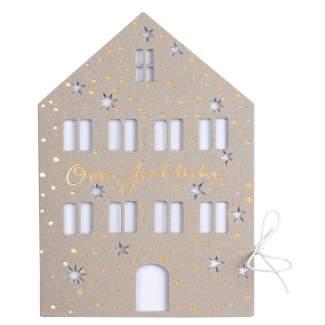 """Weihnachtshauskarte """"O du fröhliche"""""""